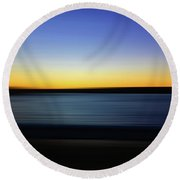 Golden Horizon Round Beach Towel