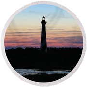 Golden Hour, Cape Hatteras Light Round Beach Towel