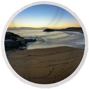 Golden Hour Round Beach Towel
