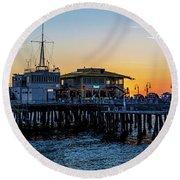 Golden Hour - Panorama Round Beach Towel