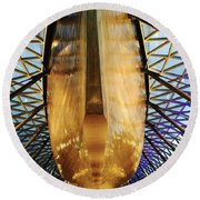Golden Hull Of Cutty Sark Round Beach Towel