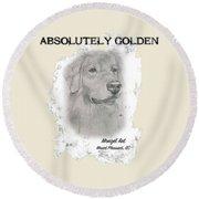 Golden Round Beach Towel