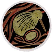 Golden Kiwi Round Beach Towel