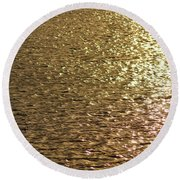 Golden Lake Round Beach Towel