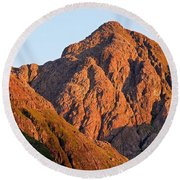 Golden Light Hits Bidean Nam Bian Round Beach Towel