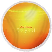 To You #002 Round Beach Towel
