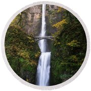 Golden Multnomah Round Beach Towel
