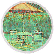Golden Parachute Round Beach Towel