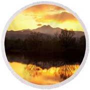 Golden Ponds Longmont Colorado Round Beach Towel