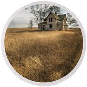 Round Beach Towel featuring the photograph Golden Prairie  by Aaron J Groen