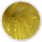Golden Rain Drops  Round Beach Towel