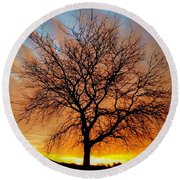 Golden Reflection Round Beach Towel by Dan Stone