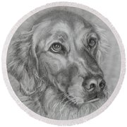 Golden Retriever Drawing Round Beach Towel