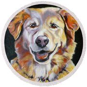 Golden Retriever Most Huggable Round Beach Towel