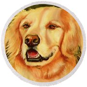 Golden Retriever Sweet As Sugar Round Beach Towel