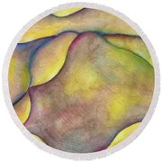 Golden Rose Round Beach Towel by Versel Reid