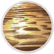 Round Beach Towel featuring the photograph Golden Sands by Roupen  Baker