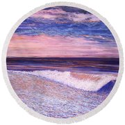 Golden Sea Round Beach Towel