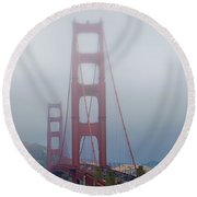 Round Beach Towel featuring the photograph Golden State Golden Gate  by Joseph Hollingsworth