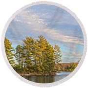 Golden Tiorati Round Beach Towel