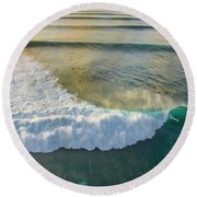 Golden Trails Round Beach Towel