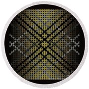 Golden Tri Round Beach Towel