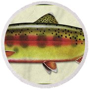 Golden Trout Id Round Beach Towel