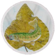 Golden Trout Round Beach Towel by Ralph Root