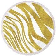 Golden Wave Round Beach Towel