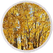 Goldenyellows Round Beach Towel by Aimelle