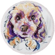 Goldie Round Beach Towel