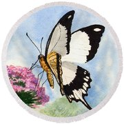 Round Beach Towel featuring the painting Goldie by Sam Sidders