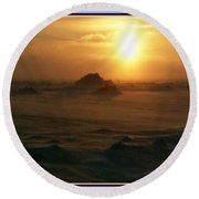 Golen Sunset Canada Round Beach Towel