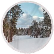 Round Beach Towel featuring the photograph Golf Anyone by Rod Best