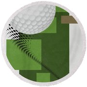Golf Art Par 4 Round Beach Towel