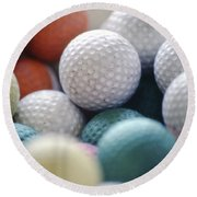 Golf Balls Round Beach Towel
