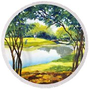 Golf Haven Round Beach Towel