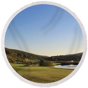Golf - Natural Curves Round Beach Towel