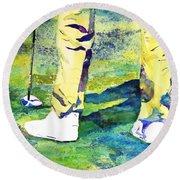 Golf Series - High Hopes Round Beach Towel by Betty M M Wong