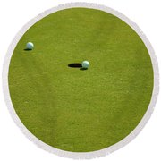 Golf - The Longest Inch Round Beach Towel by Chris Flees