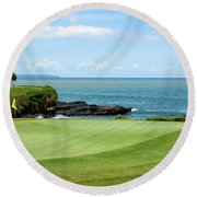 Golf View Round Beach Towel