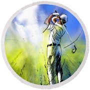 Golfscape 01 Round Beach Towel