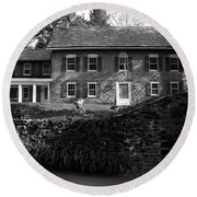 Gomez Mill House In Spring Round Beach Towel