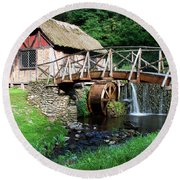 Round Beach Towel featuring the photograph Gomez Mill In Summer #1 by Jeff Severson