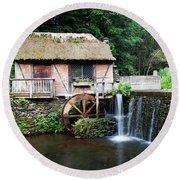 Round Beach Towel featuring the photograph Gomez Mill In Summer #2 by Jeff Severson