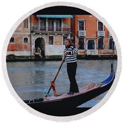 Gondolier Venice Round Beach Towel