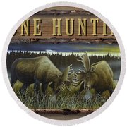 Gone Hunting - Locked At Lac Seul Round Beach Towel