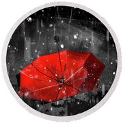 Gone With The Rain Round Beach Towel