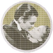 Gone With The Wind - Gold Round Beach Towel