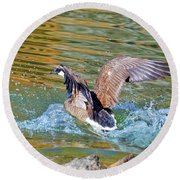 Round Beach Towel featuring the photograph Good Bye by Susan Leggett